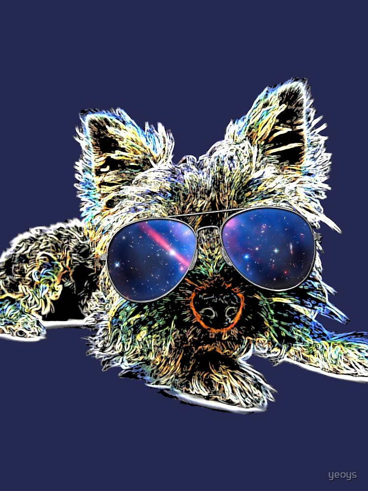 Hundeliebhaber > Yorkshire Terrier mit Sonnenbrille + Galaxie > Hunde by yeoys