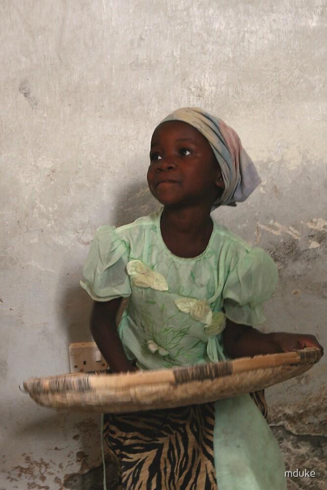 Girl Sifting Maize by Matthew Duke