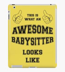 AWESOME BABYSITTER iPad Case/Skin