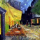 Cafe Terrasse bei Nacht von Igor Drondin