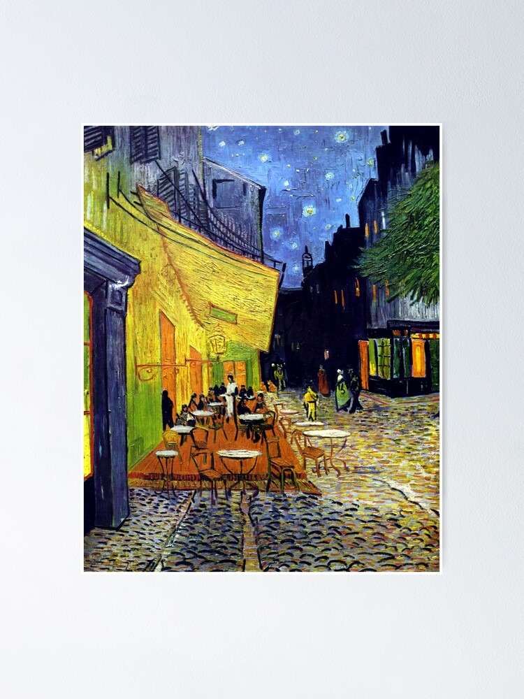 Alternate view of Cafe Terrace at Night Poster