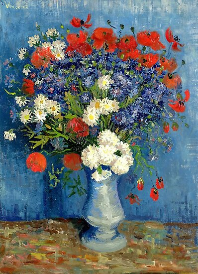 Vase With Cornflowers And Poppies by Igor Drondin