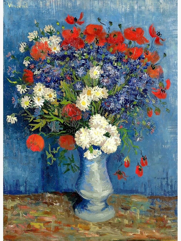 Vase With Cornflowers And Poppies by Goshadron