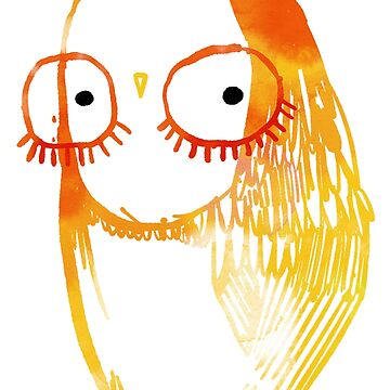 Eyelash Glasses Owl by annieclayton