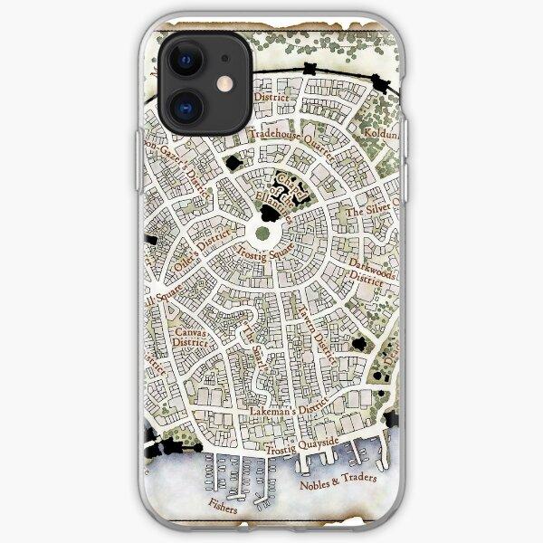 Trostig Town Plan iPhone Soft Case