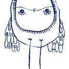 Precious Blue Owl by annieclayton