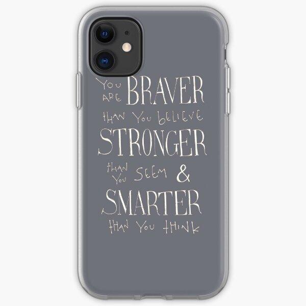Vous êtes courageux Coque souple iPhone