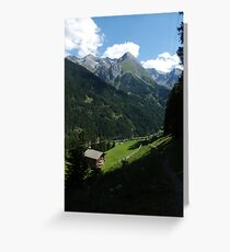 A walk in the mountians Greeting Card