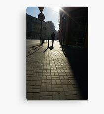 From pillar to post - Warsaw Poland Canvas Print