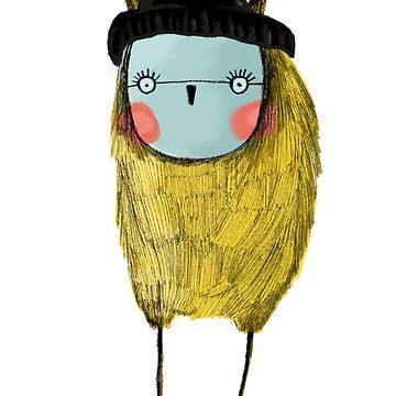 Beatnik Owl by annieclayton