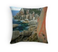 red lichens Throw Pillow