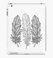 Black and White Feather iPad Case/Skin