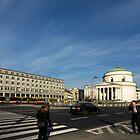 Urban Geometry - Warsaw Poland by Norman Repacholi