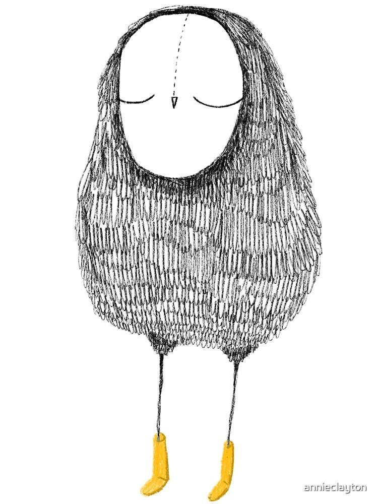 Sketchy Owl by annieclayton