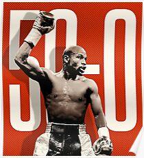 50-0 Floyd Mayweather Poster