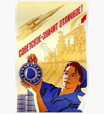 Póster Soviético significa excelente