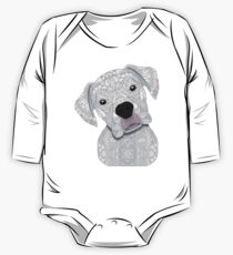 Cute White Boxer One Piece - Long Sleeve
