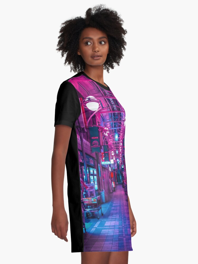 Alternate view of ENTRANCE TO THE NEXT DIMENSION Graphic T-Shirt Dress
