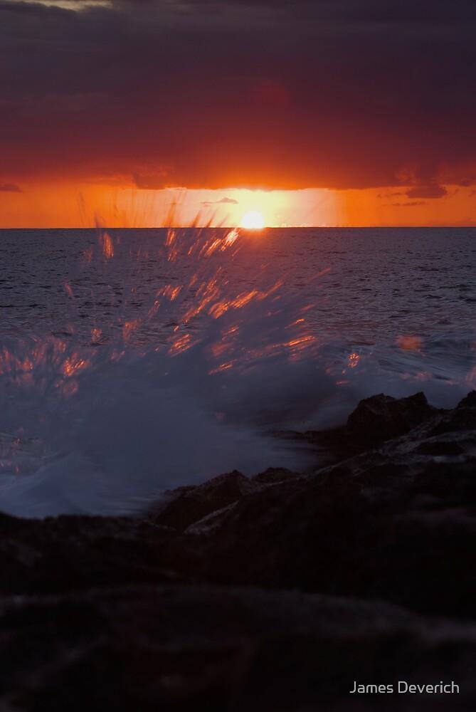 Sunset Splash by James Deverich