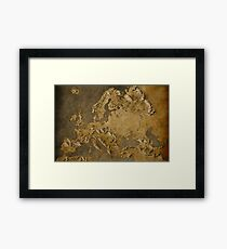 Europe Middle Earth Map Framed Print