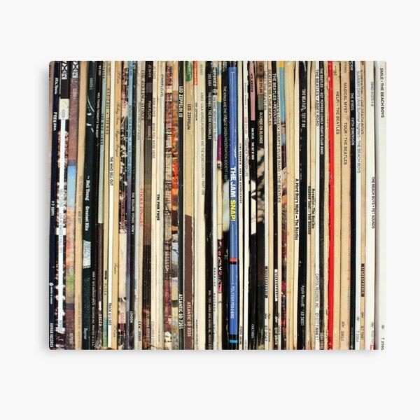 Classic Rock Vinyl Records  Canvas Print