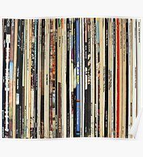 Classic Rock Vinyl Records  Poster