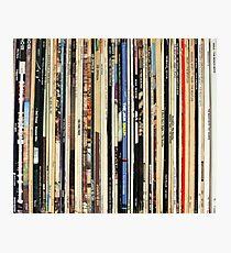 Lámina fotográfica Discos de vinilo de rock clásico