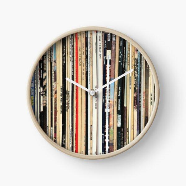Classic Rock Vinyl Records  Clock