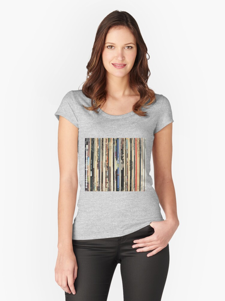 'Classic Rock Vinyl Records ' Women's Fitted Scoop T-Shirt by Iheartrecords