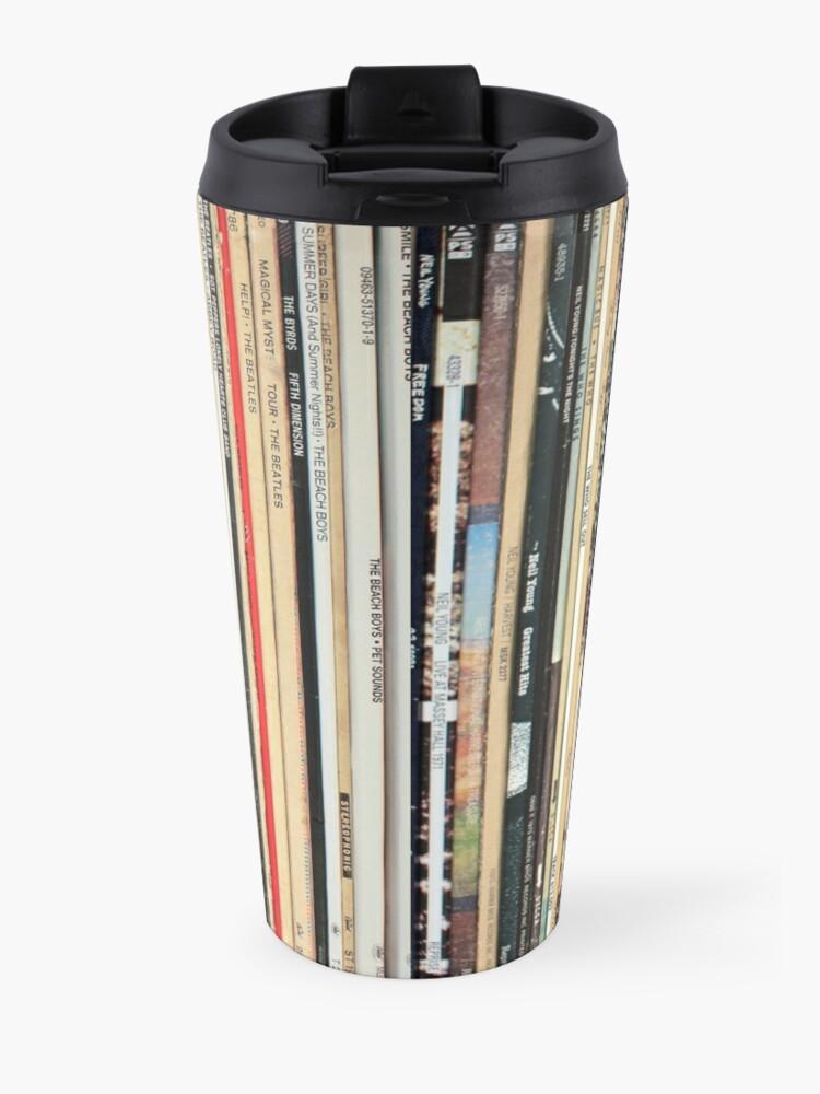 Alternate view of Classic Rock Vinyl Records  Travel Mug
