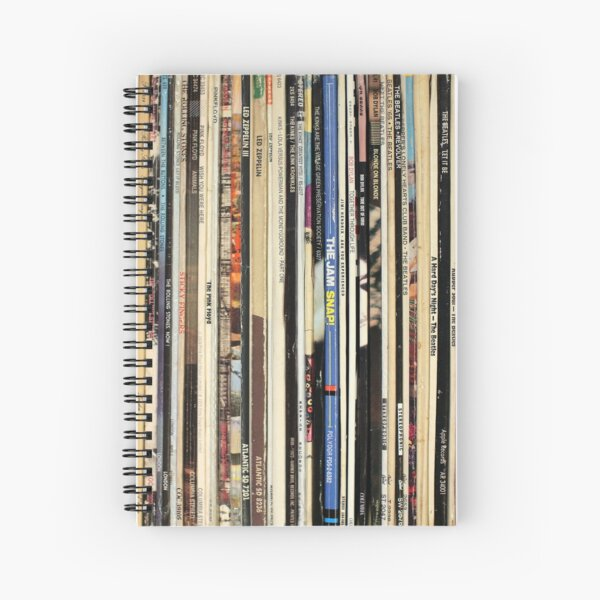 Classic Rock Vinyl Records  Spiral Notebook