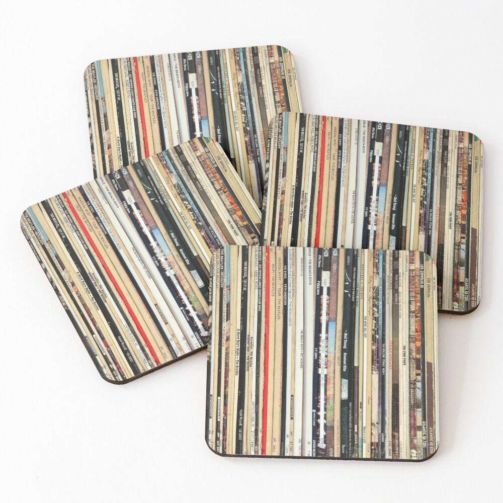 Classic Rock Vinyl Records  Coasters (Set of 4)