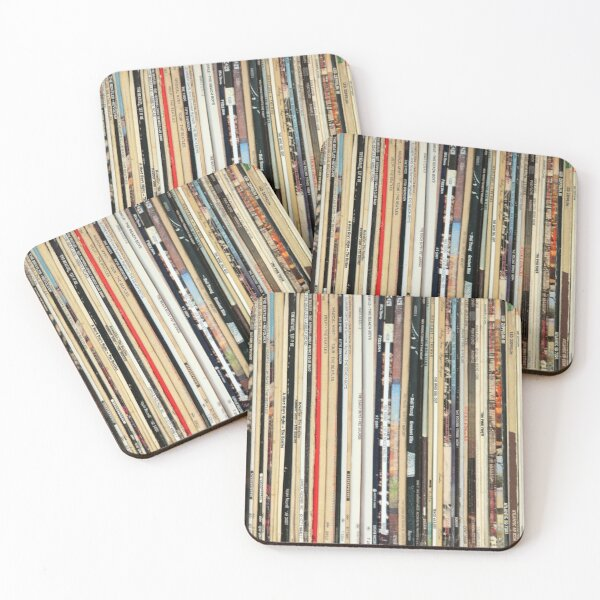 Classic Rock Vinyl Records  Coasters (Set of 4)