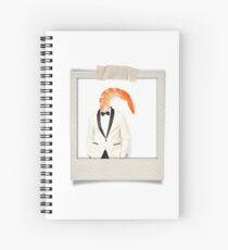 polaroid of a classy shrimp in a dinner jacket Spiral Notebook