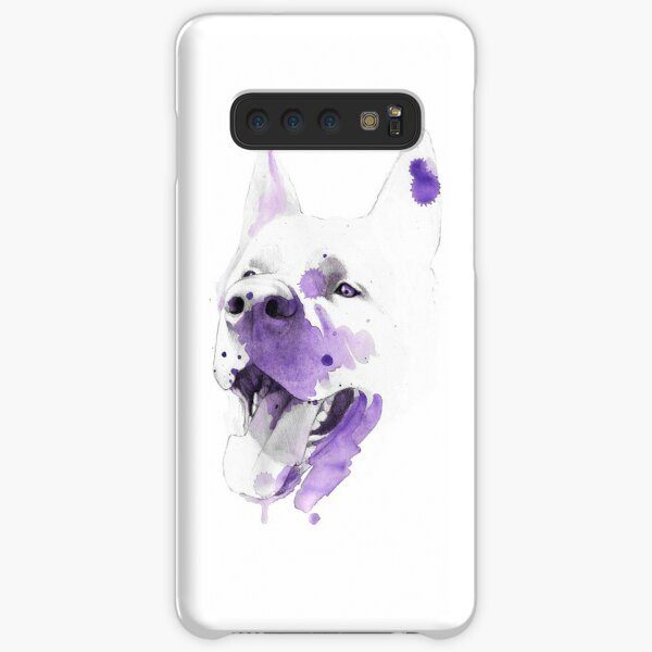 Purple happy dog Funda rígida para Samsung Galaxy