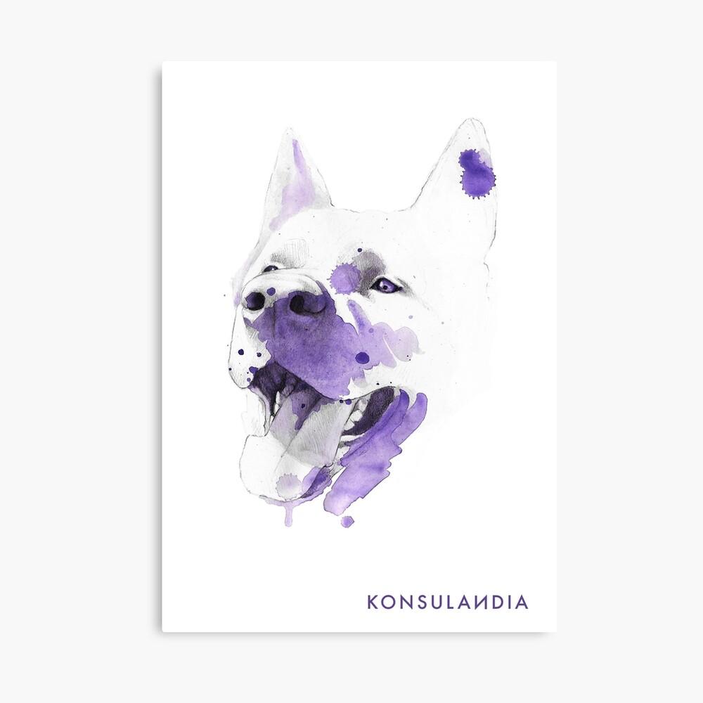 Purple happy dog Lienzo