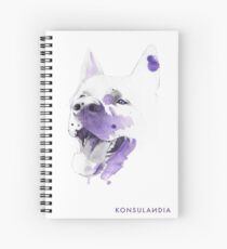 Purple happy dog Cuaderno de espiral