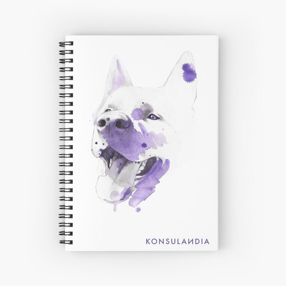 Purple happy dog Cuaderno de espiral