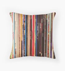 Indie Rock Vinyl Records Throw Pillow