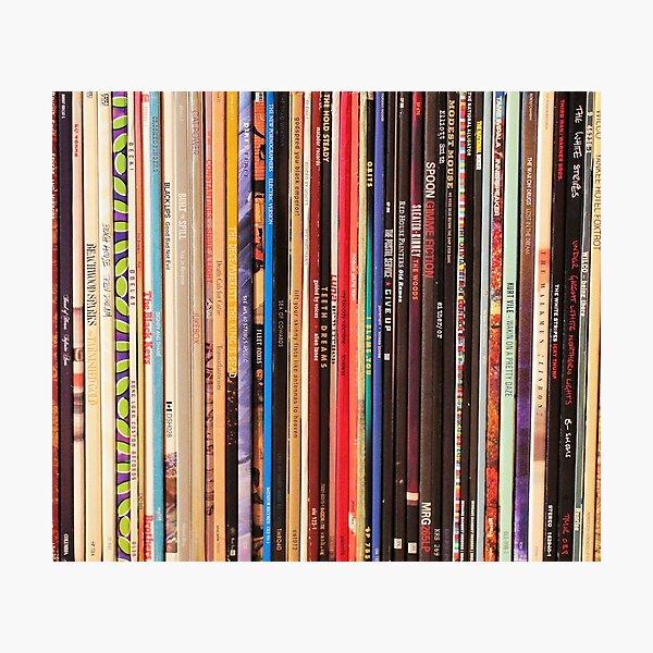 Indie Rock Vinyl Records Photographic Print