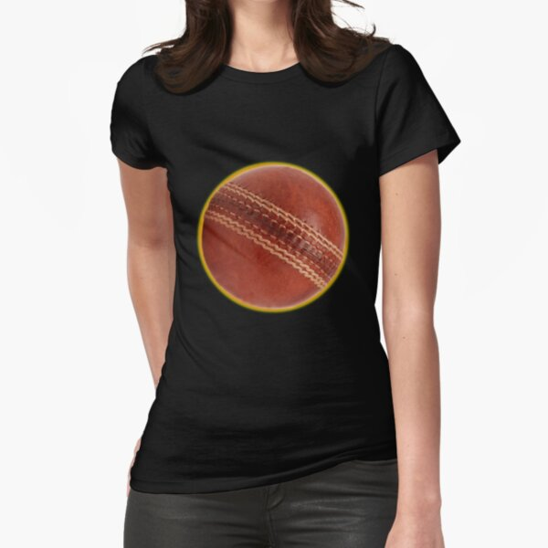 cricket ball Fitted T-Shirt
