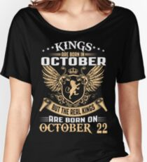 Kings Are Born On October 22 Women's Relaxed Fit T-Shirt