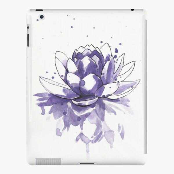 Purple water lilly Funda rígida para iPad