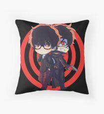 Persona 5 protagonist Chibi Throw Pillow