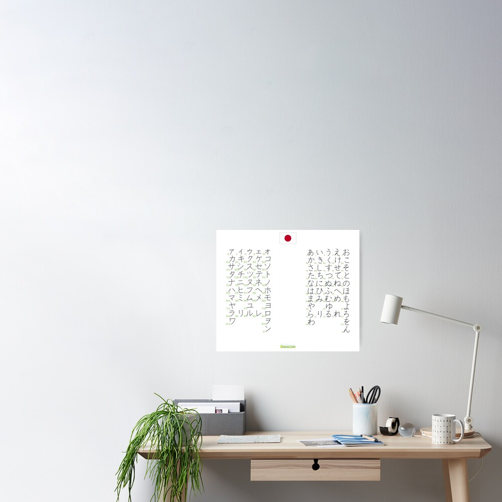 Poster «Syllabaires Japonais»