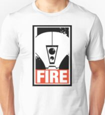 Warhammer 40K Inspired Tau Fire Warrior - FIRE Unisex T-Shirt