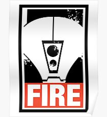 Warhammer 40K Inspired Tau Fire Warrior - FIRE Poster