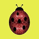 Beautiful Sparkling red sparkles Ladybird Ladybug by PLdesign