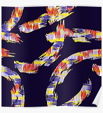 abstract brush Poster