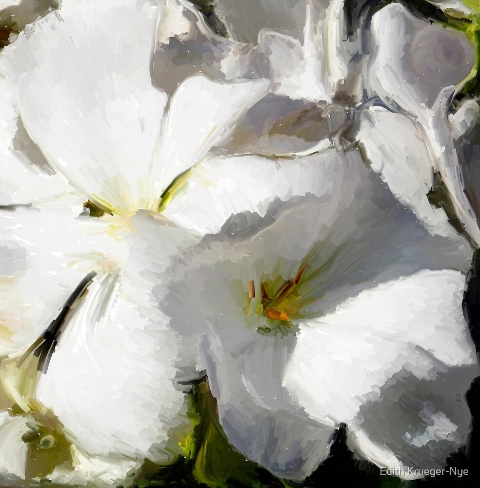 White Geranium by Edith Krueger-Nye